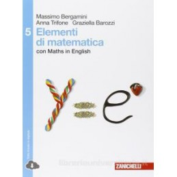ELEMENTI DI MATEMATICA   VOLUME 5 (LD) CON MATHS IN ENGLISH CON MATHS IN ENGLISH Vol. 3