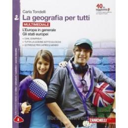 GEOGRAFIA PER TUTTI (LA)   VOLUME 2 MULTIMEDIALE (LDM) L`EUROPA IN GENERALE. GLI STATI EUROPEI Vol.
