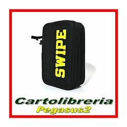 ASTUCCIO 3ZIP SWIPE NERO-GIALLO