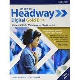 HEADWAY DIGITAL GOLD B1+ 5TH ED SB&WB S/C + EBK + CD