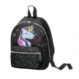 zaino-mini-unicorn-young-girl-glitter-nero