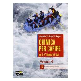 CHIMICA PER CAPIRE 4 EF X  4 LIC.
