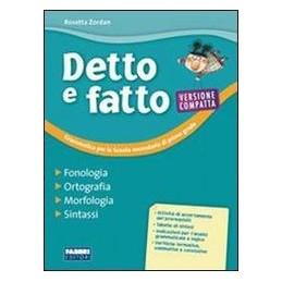 DETTO E FATTO VERS.COMPATTA  FONOL.+QUAD