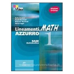 LINEAMENTI.MATH AZZURRO 1 +CD ROM +INVAL