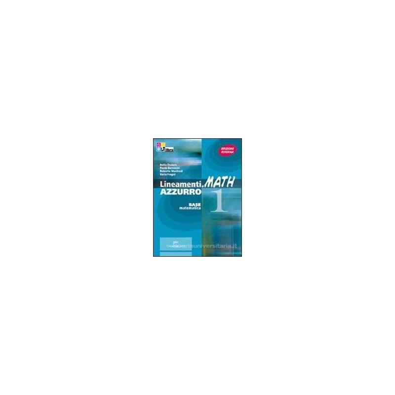 LINEAMENTI.MATH AZZURRO 1 +CD ROM +INVAL