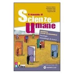 MANUALE DI SCIENZE UMANE  PSICOL.MET.XBN
