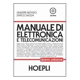 MANUALE DI ELETTRONICA E TELECOM.+CD 5ED