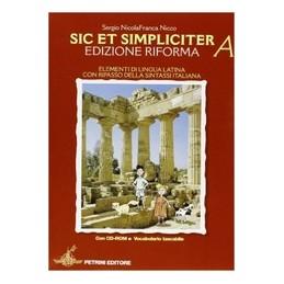 SIC ET SIMPLICITER (2 TOMI) +VOC.LAT.+CD