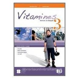 VITAMINES 3 +CAHIER +CD +MAGAZ.+L.ACTIF