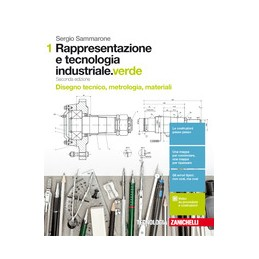 rappresentazione-e-tecnologia-industrialeverde-2ed--volume-1-ldm-disegno-tecnico-metrologia-m