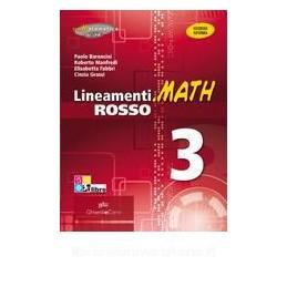 LINEAMENTI.MATH ROSSO 3 +EBOOK