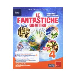 fantastiche-quattro-le-classe-4--vol-unico--quaderni--atlante--lapbook