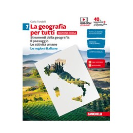geografia-per-tutti-la--ed-rossa---volume-1-con-regioni-italiane-ldm-strumenti-della-geografi