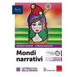 MONDI-NARRATIVI-LIBRO-MISTO-CON-LIBRO-DIGITALE-LETTERATURA-DELLE-ORIGINI-CON-HUB-YOUNG-HUB-KIT-Vol