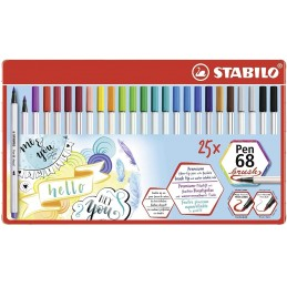 scatola-metallo-25-pennarelli-pen-68-brush-stabilo