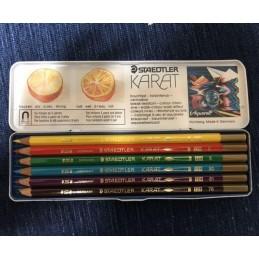 pastelli-acquarellabili-staedtler-karat--scatola-metallica-da-6