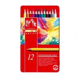 matite-colorate-acquarellabili-supracolor-soft-caran-dache--scatola-metallica-da-12