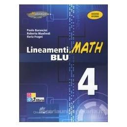 LINEAMENTI.MATH BLU 4 X 4 LS