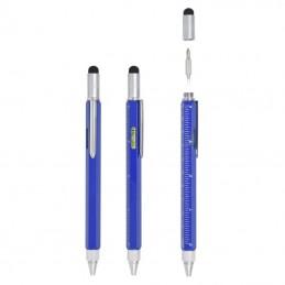 flat-penna-a-sfera-multifunzione-con-bolla-e-puntatore-touchblu