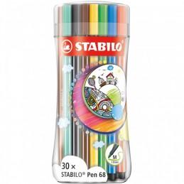 pennarello-pen-68-sleeve-pack-30-pz-stabilo