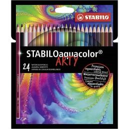 matita-colorata-acquarellabile--stabiloaquacolor--arty--astuccio-da-24--colori-assortiti