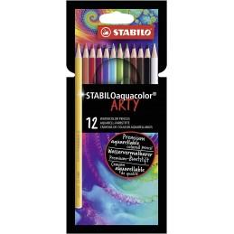 matita-colorata-acquarellabile--stabiloaquacolor--arty--astuccio-da-12--colori-assortiti