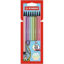 stabilo-pennarello-premium--stabilo-pen-68--astuccio-da-8--ne-shades--colori-assortiti