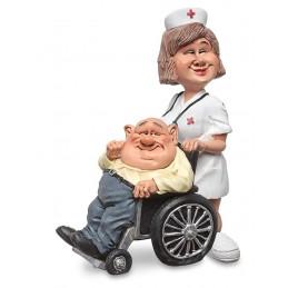 statuina-caricatura-infermiera-con-paziente