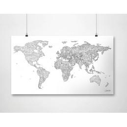 coloring-map--carta-murale-mondo-bianca-da-colorare
