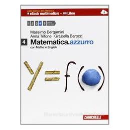 MATEMATICA AZZURRO 4 +EBOOK