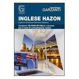 GRANDE DIZIONARIO HAZON DI INGLESE +CD R