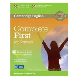 COMPLETE FIRST FOR SCHOOLS +CD ROM