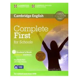 COMPLETE FIRST FOR SCHOOLS +KEY +WB +CD
