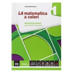 MATEMATICA A COLORI ED.VERDE 1 X BN IT