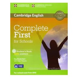 COMPLETE FIRST FOR SCHOOLS +CD ROM +KEY