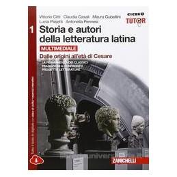 STORIA E AUTORI DELLA LETTERATURA LATINA   VOLUME 1 MULTIMEDIALE (LDM) DALLE ORIGINI ALL`ETA DI CESA