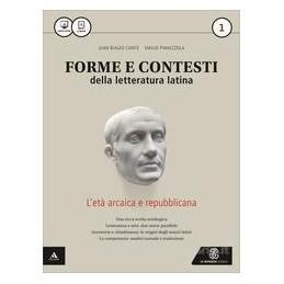 FORME E CONTESTI DELLA LETT  LATINA VOLUME 1 Vol. 1