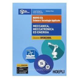 NUOVO STA   SCIENZE E TECNOLOGIE APPLICATE MECCANICA, MECCATRONICA ED ENERGIA  Vol. U