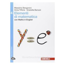 ELEMENTI DI MATEMATICA   VOLUME 4 (LD) CON MATHS IN ENGLISH CON MATHS IN ENGLISH Vol. 2