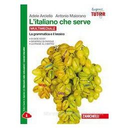 ITALIANO CHE SERVE (L`)   MULTIMEDIALE (LDM) CONFEZIONE GRAMMATICA E LESSICO + COMUNICAZIONE E TESTO