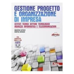 GESTIONE PROGETTO E ORGANIZZAZIONE D`IMPRESA  Vol. U